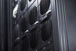 UPS server rack Array in a data center